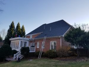 New Roof Installation on Brick House