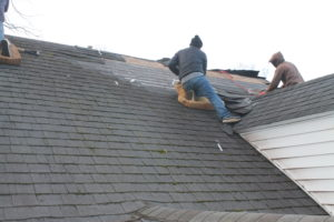 Residential Roof Replacement and Repair in Progress